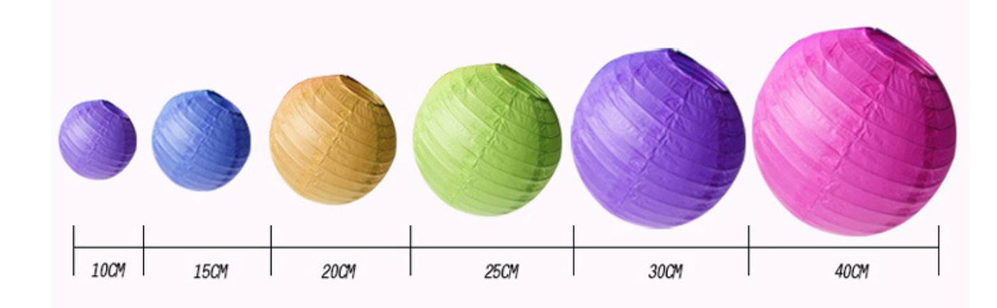 Bảng kích thước Lồng đèn nhật bản